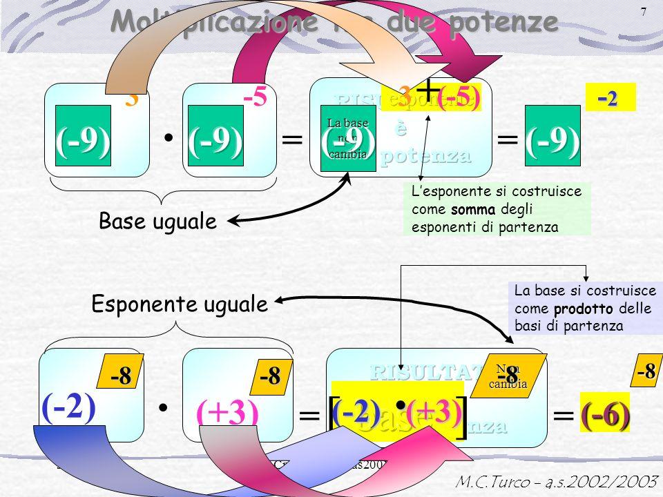 · · · [ base ] + (-9) (-9) = (-9) = (-2) = (+3) = (-6) (-2) (+3)